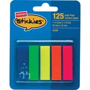 "Staples® Stickies™1/2"" Page Flags, 500 Flags/Pack"