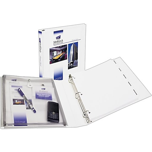 avery protect and store 1 5 inch 3 ring view binder white 23001
