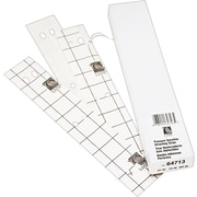 "C-Line Self-Adhesive Attaching Strips, 3-Hole Punched, White, 11"" x 1"", 200/Bx"