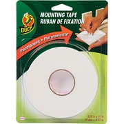 "Duck Permanent Foam Mounting Tape, White, 3/4"" x 15'"