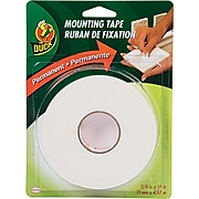 """Duck Permanent Foam Mounting Tape, White, 3/4"""" x 15'"""
