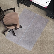 "E.S. Robbins Anchormat Chair Mat for Low Pile Carpets, 36""W x 48"", Clear"