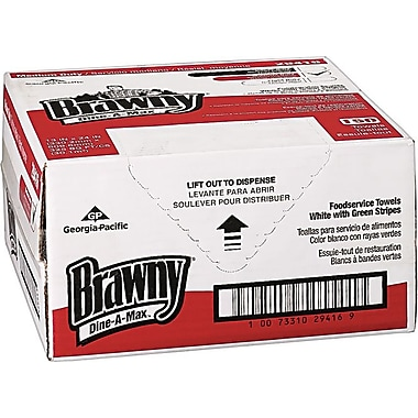 Brawny Industrial Dine-A-Max Food Service and Bar Towels; 150 Wipes/Box