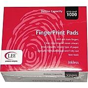 "Lee Inkless Fingerprint Pad, 2 1/4""W x 1 3/4""D, Black, 12/Pk"