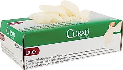 Curad CUR8105 Medium Powder-Free Latex Exam Gloves 100/Box, Green