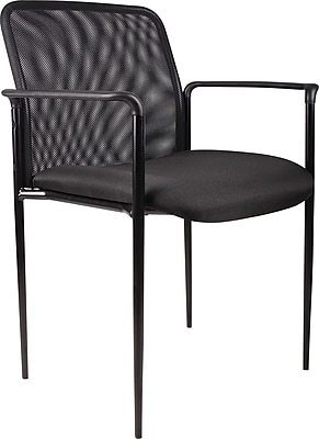 Boss Black Mesh Guest Chair | Staples