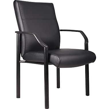 Boss Black LeatherPlus Guest Chair