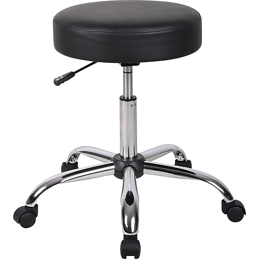 Boss Caressoft Backless Faux Leather Doctor S Stool Black