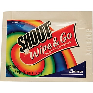 Shout® Instant Stain Treater Wipes, 80/Pack