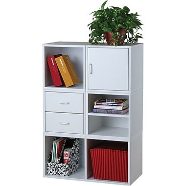 Free Foremost Holduems In Modular Storage Cube System White With Pine Storage  Cube System.