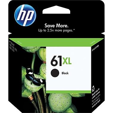 HP 61XL Ink Cartridge, High Yield, Black (CH563WN#140)