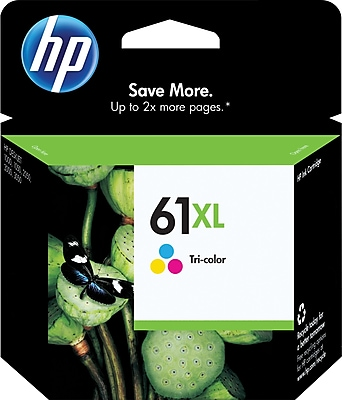 HP 61XL Tricolor Ink Cartridge (CH564WN), High Yield