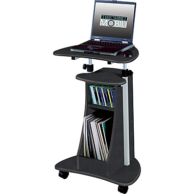 TechniMobili® Mobile Laptop Desk w/ Storage, Graphite