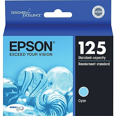 Epson® 125 (T125220) Cyan Ink Cartridge