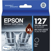 Epson 127 Ink Cartridge, Extra High Yield, Black (T127120-S)