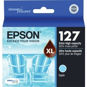 Epson® 127 (T127220) Cyan Ink Cartridge, Extra High-Capacity