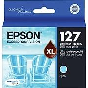 Epson T127 Cyan Extra High Yield Ink Cartridge, Each
