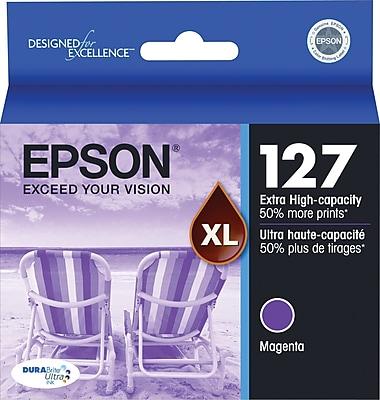 Epson 127 Magenta Ink Cartridge (T127320), Extra High Yield