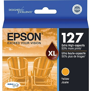 Epson® 127 (T127420) Yellow Ink Cartridge, Extra High-Capacity