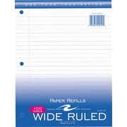 Roaring Spring® Wide-Ruled Loose Notebook Filler Paper, 100 Sheets Per Pack