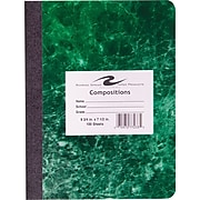"""Roaring Spring Hard Cover Composition Book, Assorted Real Marble Colors, 9 3/4"""" x 7 1/2"""", Wide Ruled, 100 Sheets"""