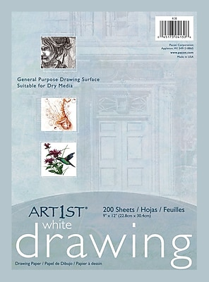 """Art1st® White Economy Weight Drawing Paper, 9""""x12"""", 200 Sheets"""