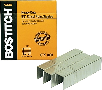 Stanley Bostitch® Heavy-Duty Premium Staples, 5/8