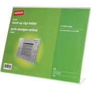 "Staples® Slanted Sign Holder, Horizontal, 11"" x 8 1/2"""