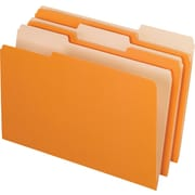 "Pendaflex® File Folder, 1/3 Cut Tabs, Orange, LEGAL-size Holds 8 1/2"" x 14"", 100/Bx"