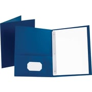 "Oxford® Twin Pocket Folder, 3 Fasteners, Blue, LETTER-size Holds 8 1/2"" x 11"", 25/Bx"