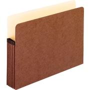 """Pendaflex® File Pocket, Red Fiber, Letter, 5 1/4"""" Expansion, 10/Bx"""