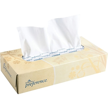 Preference®, Whtie Facial Tissue, Flat Box, 100 Sheets/Box, 30 Boxes/Case, (48100)