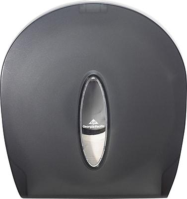 Georgia-Pacific Jumbo Jr. Bathroom Tissue Dispenser, Translucent Smoke 848959