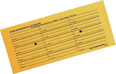 Quality Park Inhumed Open-Side Inter-Department Envelopes, 4 1/2