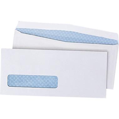 Quality Park Gummed V-Flap Security Tinted Window #10 Envelopes, 4 1/8