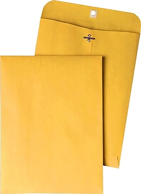 Quality Park Gummed Clasp Envelopes, 9