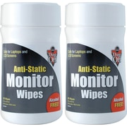 Falcon Dust-Off Monitor Wipes, 2/Pack