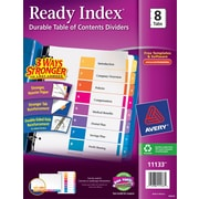 Avery® 8-Tab Ready Index® Multicolor Table of Contents Dividers, 1 Set/Pack