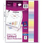 8-Tab Set Avery Protect 'n Tab Sheet Protectors