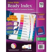 Avery® Extra-Wide Table of Contents Tab Dividers, Multicolor, 1-10