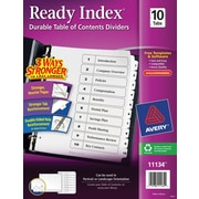 Avery® 10-Tab Ready Index® Classic Black & White Table of Contents Dividers