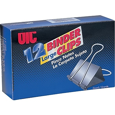 OIC Binder Clips, Large, 2