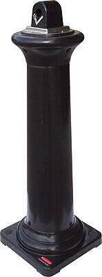 Rubbermaid GroundsKeeper® Tuscan Steel Smoking Receptacle, Smoke, 42