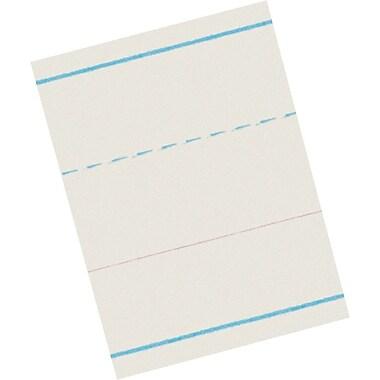 Pacon® Ruled Newsprint for Zaner-Bloser Programs; Kindergarten Level, 1-1/8x9/16