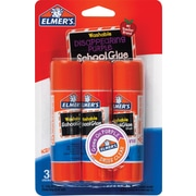 Elmer's Disappearing Purple School Glue Sticks, 3/Pack, .77 oz
