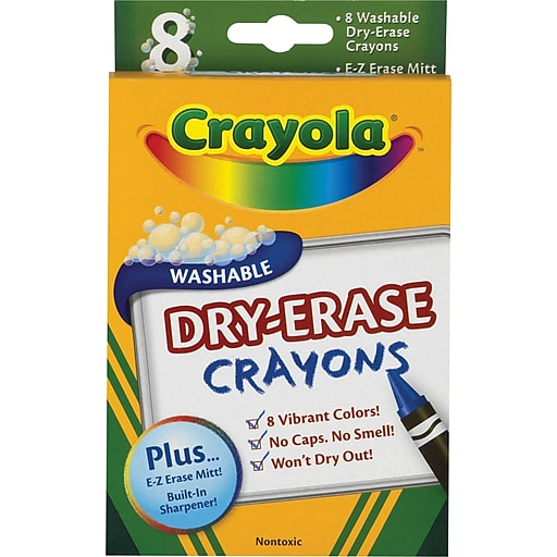 crayola washable dry erase crayons assorted 8 pack staples