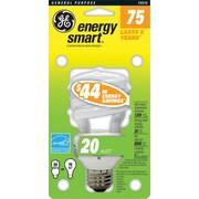 20 Watt GE T3 Spiral CFL Bulb, Soft White