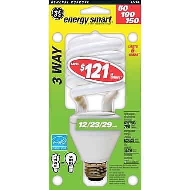12/23/29 Watt GE T4 Spiral CFL Bulb, Soft White