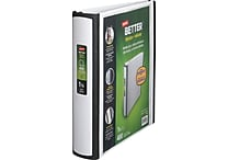 Staples® Better® 1-1/2' View Binders with D-Rings, White