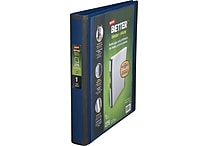 1' Staples® Better® View Binder with D-Rings, Blue